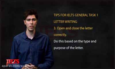 نکات آیلتس letter writing